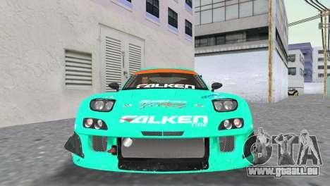 Mazda RX7 FD3S RE Amamiya Falken pour GTA Vice City vue arrière