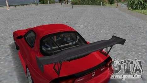 Mazda RX7 FD3S RE Amamiya Road Version für GTA Vice City Rückansicht