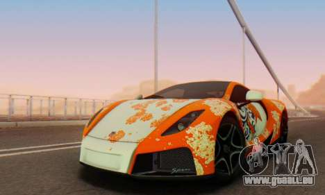 GTA Spano 2014 IVF pour GTA San Andreas moteur