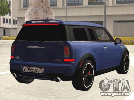 Mini Cooper Clubman JCW pour GTA San Andreas vue de droite