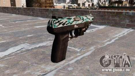 Pistole FN Five seveN LAM Aqua Camo für GTA 4 Sekunden Bildschirm