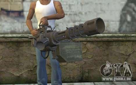 Nouveau Minigun pour GTA San Andreas troisième écran
