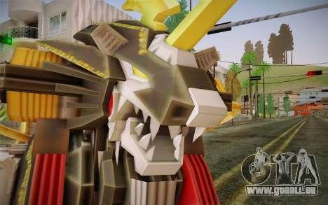 Energy Liger from Zoids pour GTA San Andreas troisième écran