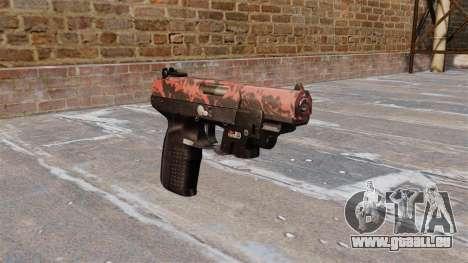 Pistolet FN Cinq à sept LAM Rouge tigre pour GTA 4