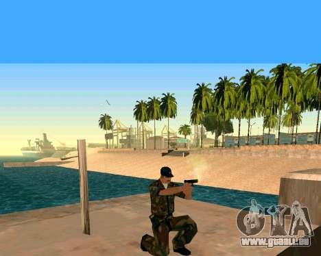 Glock из Cinématique pour GTA San Andreas troisième écran
