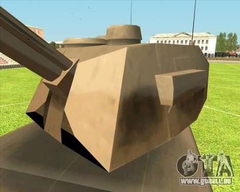 Rhino tp.RVNG-AM cal.155 pour GTA San Andreas sur la vue arrière gauche
