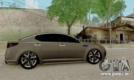 Kia Optima Stock pour GTA San Andreas sur la vue arrière gauche