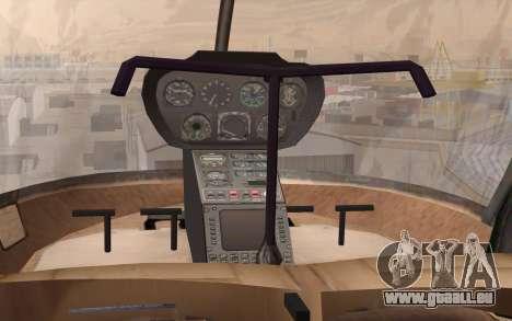 Robinson R22 für GTA San Andreas Rückansicht