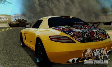 Mercedes SLS AMG Hamann 2010 Metal Style pour GTA San Andreas vue de côté
