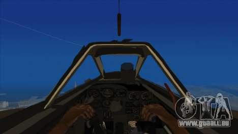 Messerschmitt Me.262 Schwalbe pour GTA San Andreas vue arrière