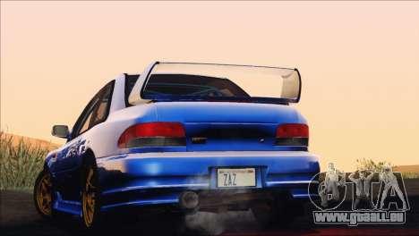Subaru Impreza 22B STi 1998 pour GTA San Andreas vue intérieure