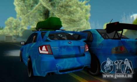 Subaru Impreza Blue Star pour GTA San Andreas vue arrière