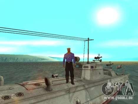 Le torpilleur type G-5 pour GTA San Andreas roue