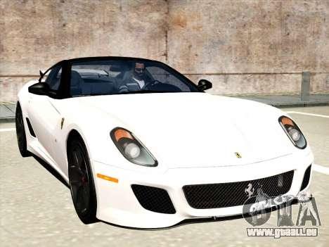 Ferrari 599 GTO für GTA San Andreas Innen