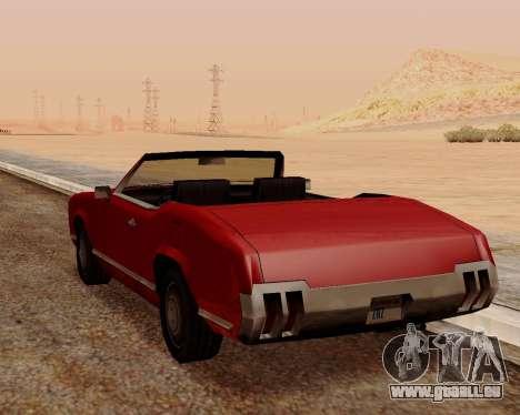 Sabre Cabrio für GTA San Andreas zurück linke Ansicht