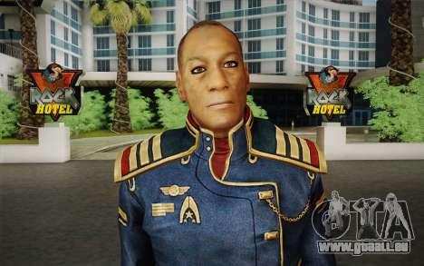Kapitän David Anderson из Mass Effect-Serie für GTA San Andreas dritten Screenshot