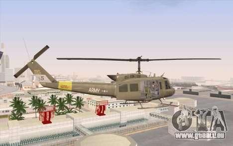 UH-1 Huey für GTA San Andreas linke Ansicht