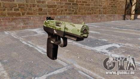 Pistole FN Five seveN Green Camo für GTA 4