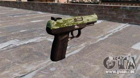 Pistolet FN Cinq à sept Vert Camo pour GTA 4 secondes d'écran