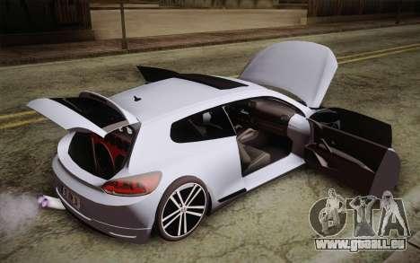 Volkswagen Scirocco für GTA San Andreas Rückansicht