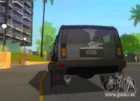Hummer H2 Limousine pour GTA San Andreas vue de droite