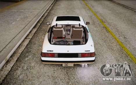 Mazda RX-7 GSL-SE 1985 HQLM für GTA San Andreas Unteransicht