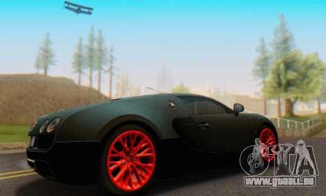 Bugatti Veyron Super Sport 2011 pour GTA San Andreas sur la vue arrière gauche