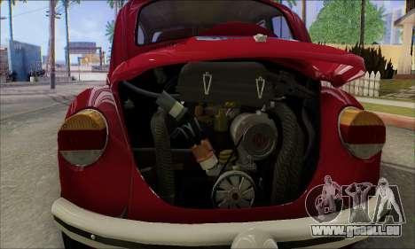 1973 Volkswagen Beetle pour GTA San Andreas salon