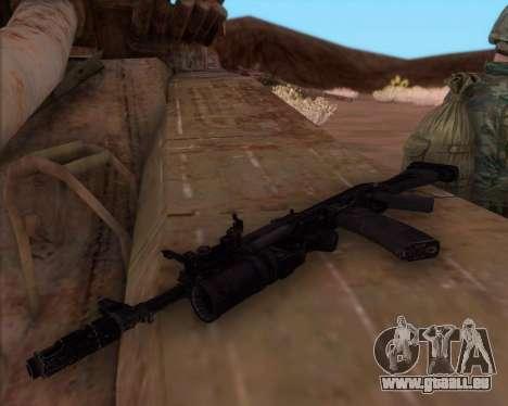Kalachnikov AK-74M pour GTA San Andreas deuxième écran