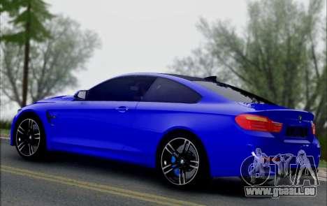BMW M4 für GTA San Andreas Rückansicht