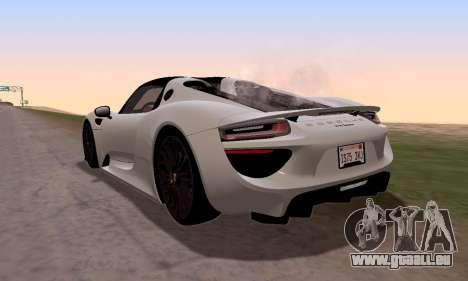 Porsche 918 2013 für GTA San Andreas linke Ansicht
