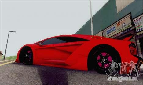 Zentorno GTA 5 V.1 für GTA San Andreas Innenansicht