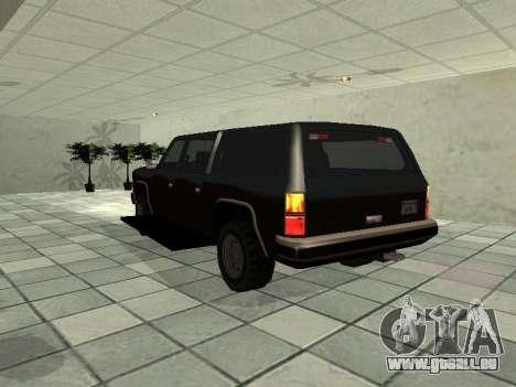 SWAT Original Cruiser für GTA San Andreas zurück linke Ansicht