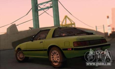 Mazda RX-7 GSL-SE 1985 HQLM pour GTA San Andreas laissé vue