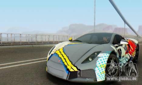 GTA Spano 2014 IVF pour GTA San Andreas vue de dessus