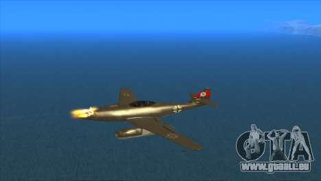 Messerschmitt Me.262 Schwalbe für GTA San Andreas Innenansicht