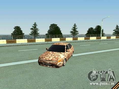 VAZ 2110 camouflage pour GTA San Andreas laissé vue