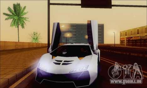 Zentorno GTA 5 V.1 für GTA San Andreas Räder