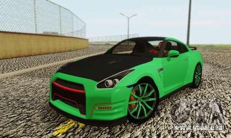 Nissan GTR Streets Edition für GTA San Andreas zurück linke Ansicht