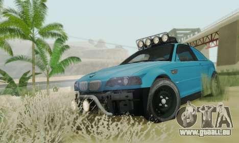 BMW M3 E46 Offroad Version pour GTA San Andreas vue intérieure
