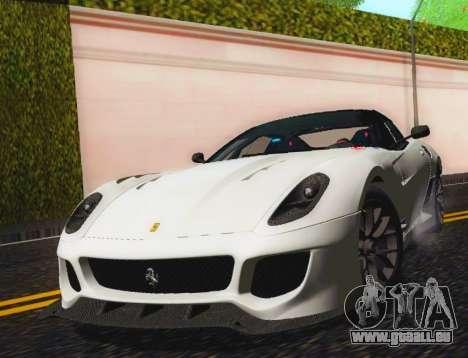 Ferrari 599XX Evolution für GTA San Andreas Rückansicht