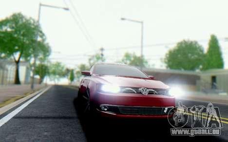 Volkswagen Jetta 1.4 Comfortline МТ pour GTA San Andreas sur la vue arrière gauche