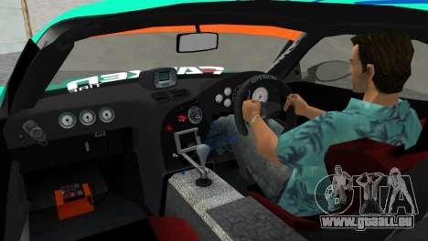 Mazda RX7 FD3S RE Amamiya Falken pour GTA Vice City sur la vue arrière gauche
