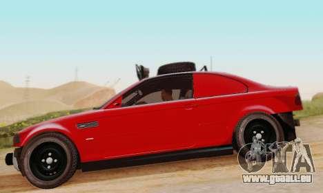 BMW M3 E46 Offroad Version pour GTA San Andreas sur la vue arrière gauche