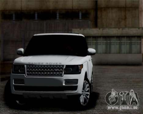 Range Rover Vogue 2014 pour GTA San Andreas laissé vue
