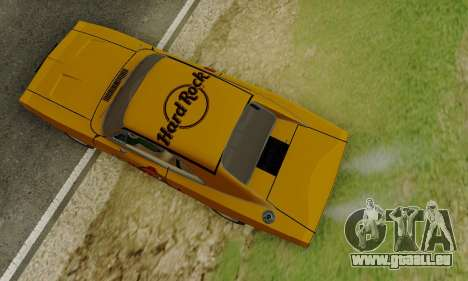Dodge Charger 1969 Hard Rock Cafe für GTA San Andreas Innenansicht