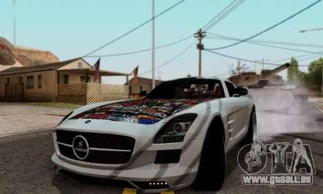 Mercedes SLS AMG Hamann 2010 Metal Style pour GTA San Andreas laissé vue