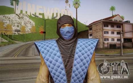 Classic Sub Zero из MK9 DLC für GTA San Andreas dritten Screenshot