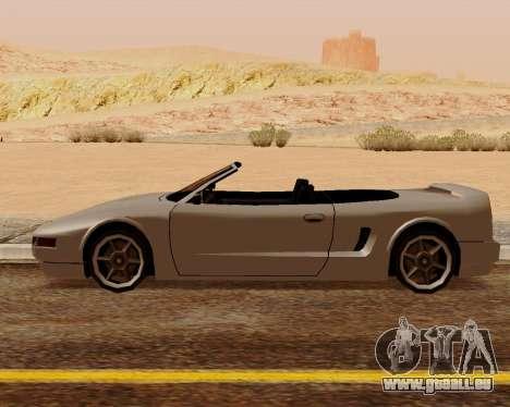 Infernus Convertible pour GTA San Andreas laissé vue