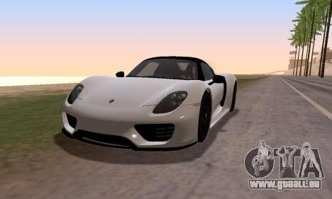 Porsche 918 2013 für GTA San Andreas zurück linke Ansicht